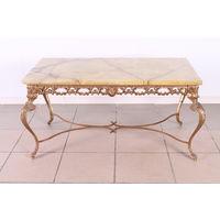 Бронзовый столик.Оникс.Бельгия.Art-886.