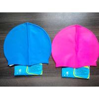 Силиконовая шапочка для плавания подростковая + подарок