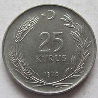 Турция 25 курушей 1970