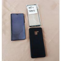 Отличный бампер и чехол-книга Samsung Galaxy A8+