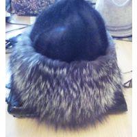 Шляпа шапка 57 размер из норки и чернобурки