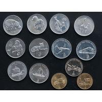 Северная Корея 13 монет 2002 года. Животные, техника