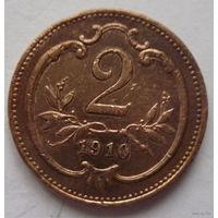Австро-Венгрия. 2 геллера 1910г.