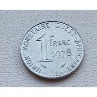 Западная Африка (BCEAO) 1 франк, 1978  8-11-9