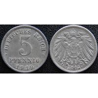 YS: Германия, 5 пфеннигов 1919F, KM# 19 (2)