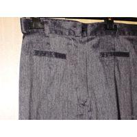 Офисные брюки -серые бренд 2010г. р.46 с блеском