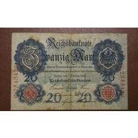 Германия / 20 mark / 1908 год / Ro-31