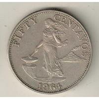 Филиппины 50 сентаво 1964