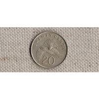 Сингапур 20 центов 1989/флора(Uss)