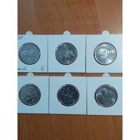 Северная Корея 6 монет в холдерах.