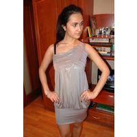 Шикарное платье из Италии на одно плечо р. С