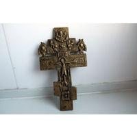 Старинный бронзовый крест 11 см х 6.5 см