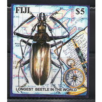 Фиджи Жук карта компас 2004 год чистый беззубцовый блок