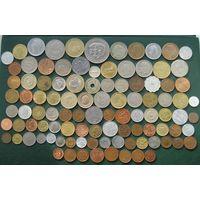 Красивый лот, 101 разных монет с Серебром из 44 Стран и Колоний без СССР и СНГ