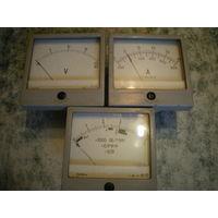 Вольтметр, амперметр и индикатор.