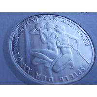 Германия 10 марок 1972 Олимпиада 1972 г в Мюнхене.серебро.