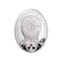 Ниуэ 2012. Яйцо Фаберже. Орден Св. Георгия. Серебро 1 доллар.