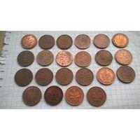 Германия ФРГ 2 пфенинга -2- Цена за 1монету ВЫБЕРАЙТЕ (для любителей погодовки- по дворам )