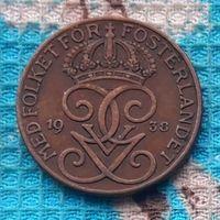 Швеция 5 оре (центов) 1938 года. Три короны. Густав V Адольф. Инвестируй в историю!