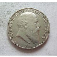 Баден Германская империя 5 марок 1904 - пореже