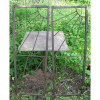 Ограда металлическая, калитка 1,33м х 0,47м (размер одной створки)