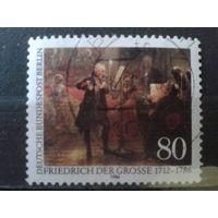 Берлин 1986 король Фридрих Великий, живопись Михель-1,7 евро гаш.