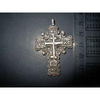 Старинный крест, крестик, серебро.Вес 8,95гр. Старт с рубля.