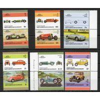 Автомобили Сент-Винсент и Гренадины 1986 год серия из 12 марок в сцепках