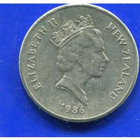 Новая Зеландия 20 центов 1986