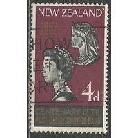Новая Зеландия. 100 лет сбербанку. 1967г. Mi#454.
