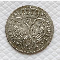 6 грошей. 1757 С