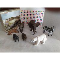 Фигурки диких животных Шляйх(Германия) одним лотом(7 штук)