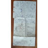 Большая немецкая карта 1942-43гг Брагина с военными отметками.