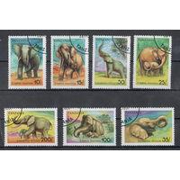 Танзания /1991/ Фауна / Слоны / Серия 7 Марок