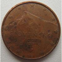 Словакия 1 евроцент 2009 г.