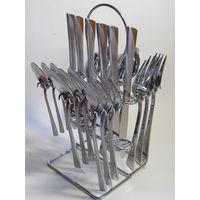 Набор столовых приборов Hoffner Elegance на Подставке, 24 предмета!