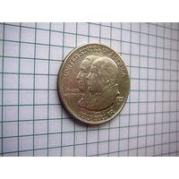 США, 1/2  доллара 1923S Monroe Doctrine (серебро)