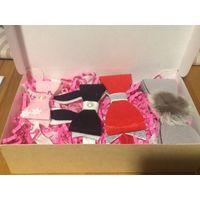 Набор подарочный детские повязки на голову. Оригинальный подарок. Размер упаковки 23,5 на 14,5 см. Ручная работа.