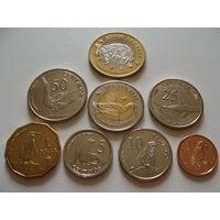 Галапагосские острова. набор 8 монет 2008 год  5, 10, 25, 50 сентаво, 1, 2, 5 долларов UNC