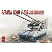 """Немецкая двухорудийная зенитная установка на базе сверхтяжёлого танка Е-100 128mm Flak 40 Zwilling, сборная модель танка 1/72 """"Modelcollect"""" 72097"""