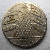 Германия. 10 рентенпфеннигов 1924 A .84