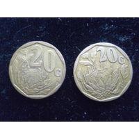 Центы 20+20. 1993г.и2002г.