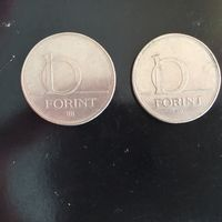 10 форинтов 1994 и 1996 год Венгрия