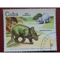 Куба 1985г. Динозавры.
