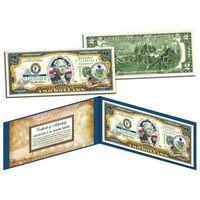2 доллара PENNSYLVANIA (26-ой штат США ) цветные UNC (цветные в футляре с цветным сертификатом) UNC