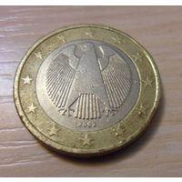 """1 евро Германия 2002 год """"F"""" из коллекции"""