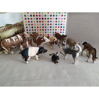 Фигурки домашних животных Шляйх(Германия) одним лотом(11 штук)