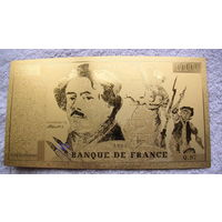 Франция Золотая банкнота 100 франков 1987г. распродажа