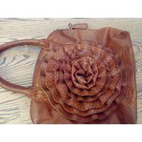 Шикарная сумка с объёмный цветком