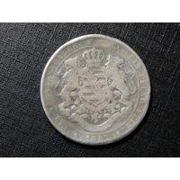Саксония 1 талер 1867г